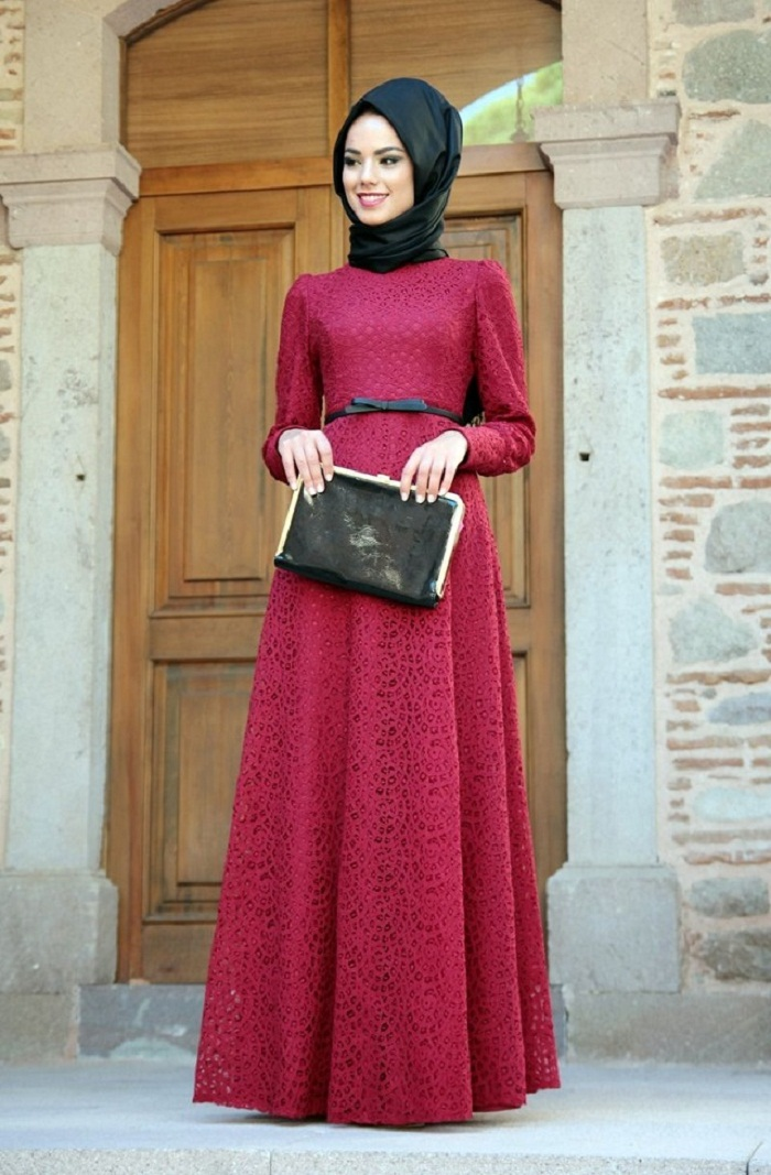 25+ Desain Gaun Pengantin Muslim Modern Terbaru 2018