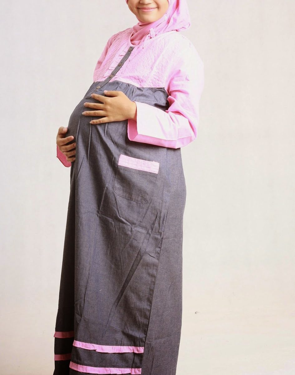 Model baju hamil untuk kerja jenis gamis